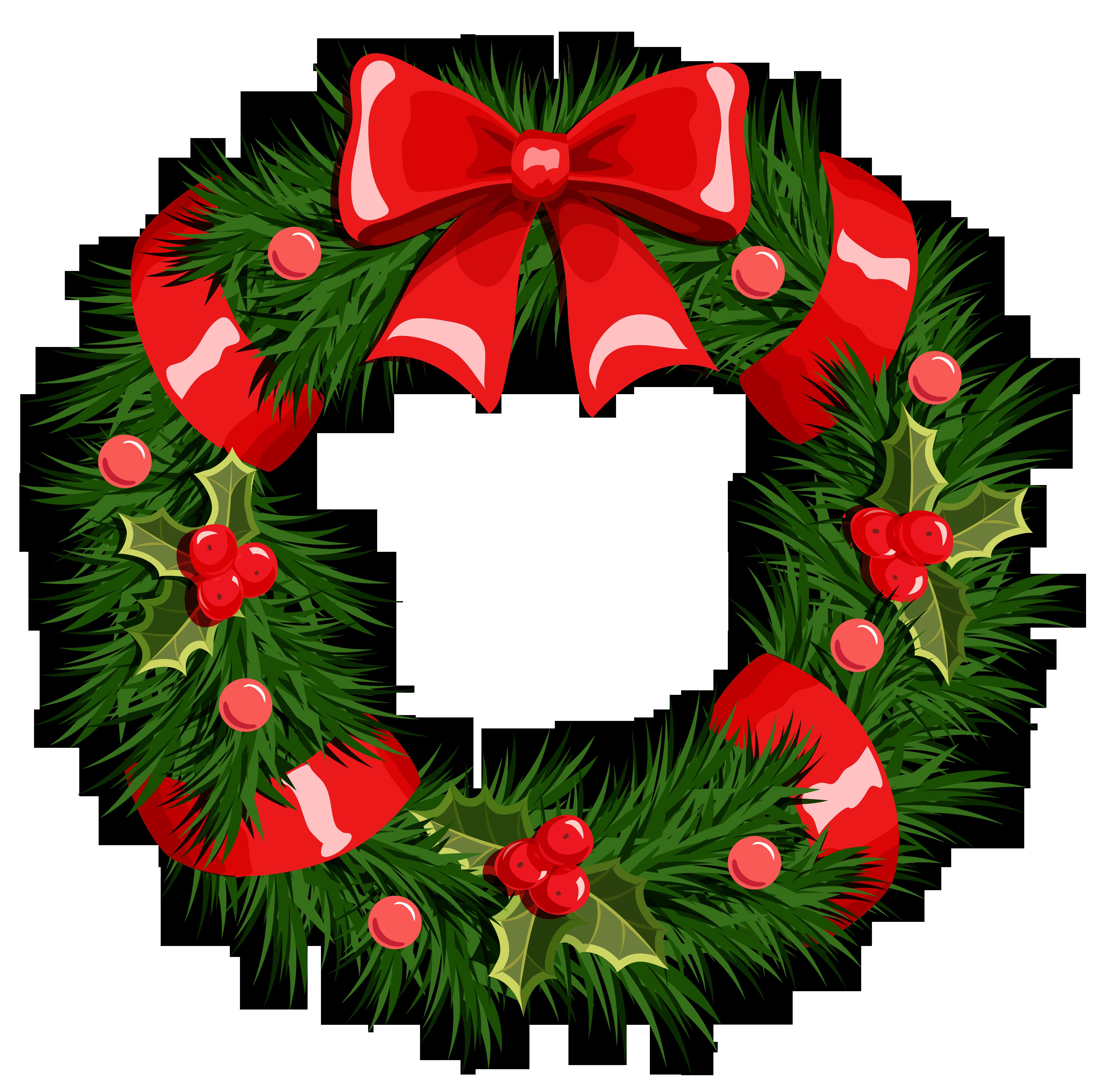 Wreath Christmas Garland Clip art.