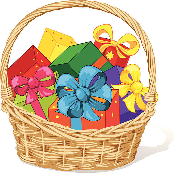 Top 60 Christmas Gift Baskets Clip Art, Vector Graphics and.