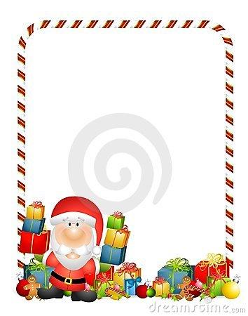 Santa Claus Gifts Border.
