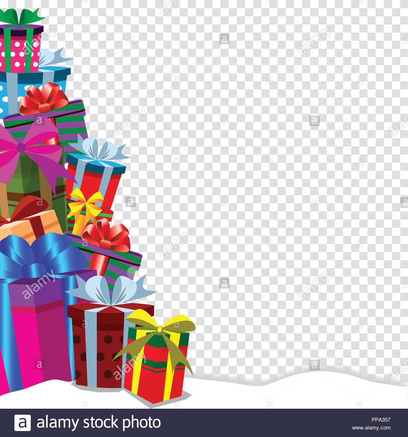 Festive holiday background with gifts in traditional style.