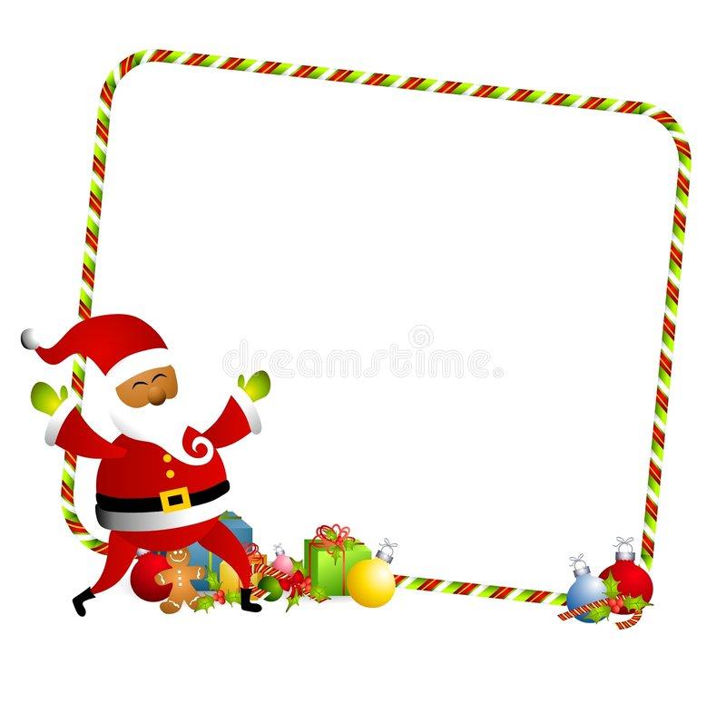 Cartoonish Christmas Gifts Border Frame Stock Illustrations.