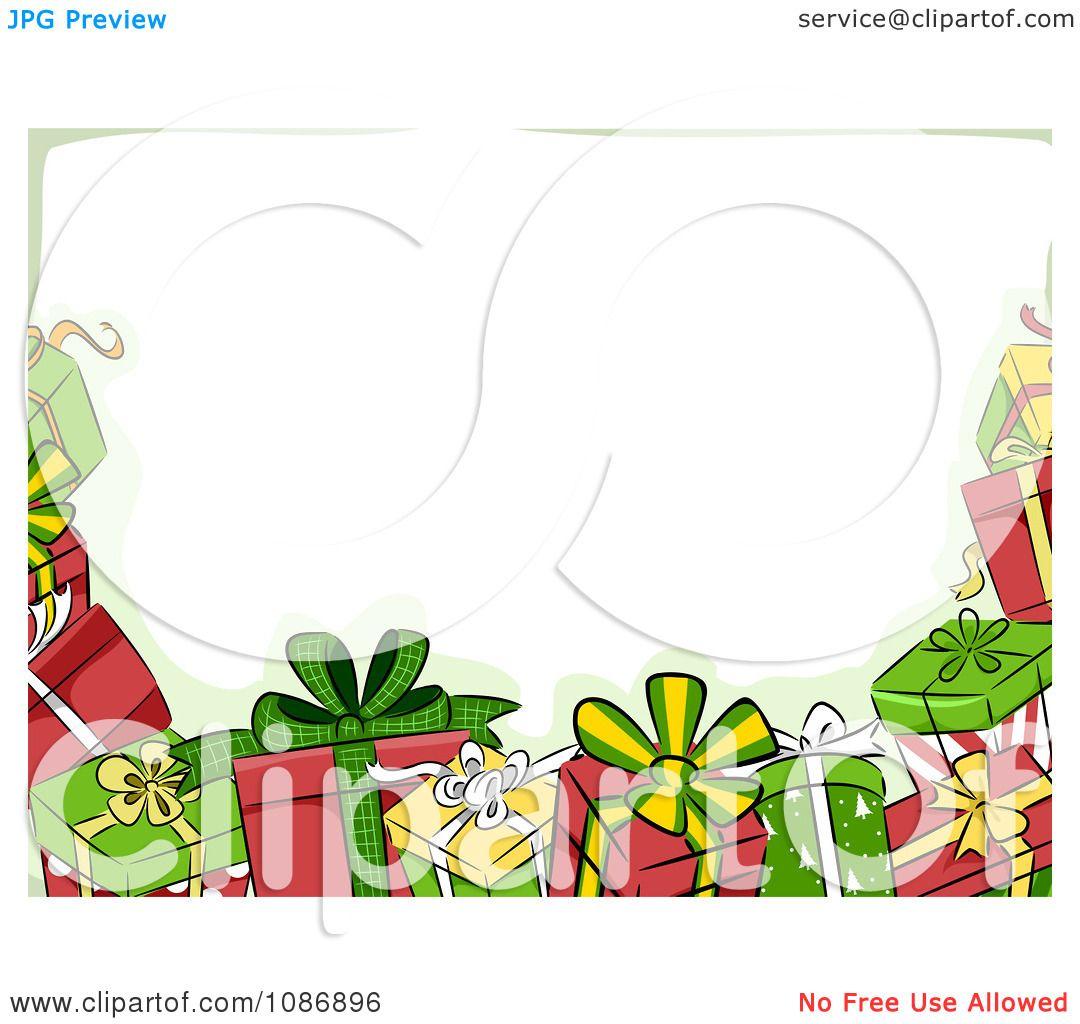 christmas gift clip art borders.
