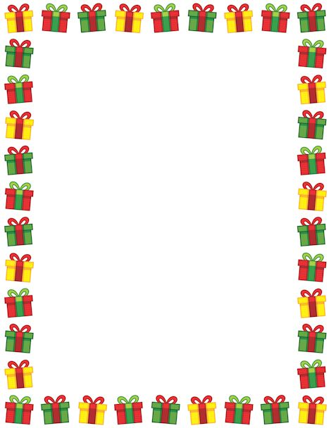 Christmas Border Black And White.Christmas Gift Border Clipart Black And White 20 Free