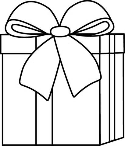 Christmas Gift Clipart Black And White.