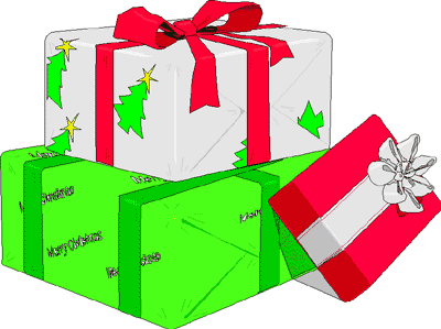 Free Christmas Gifts Clipart.