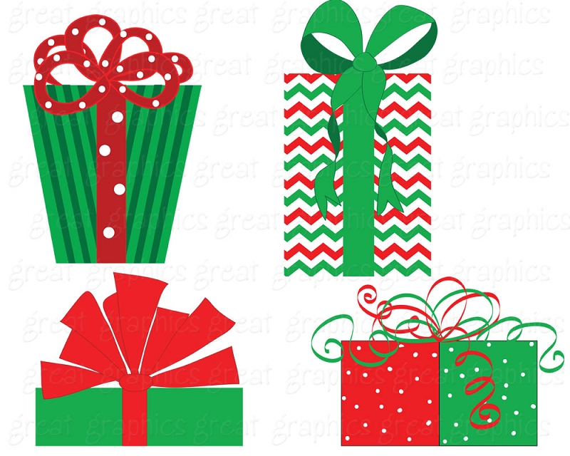 Christmas Gift Clipart Graphics.