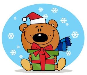 Christmas Gift Giving Clipart.
