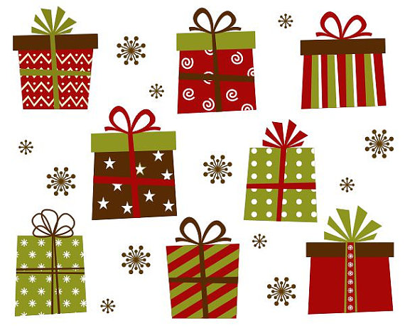 Christmas Gift Boxes Clip Art Xmas Giftboxes by YarkoDesign.
