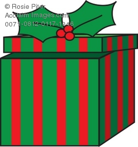 Royalty Free Clipart Illustration of an Opened Christmas Gift.