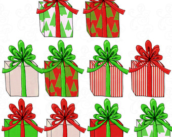 Christmas Gift Packages Clipart.