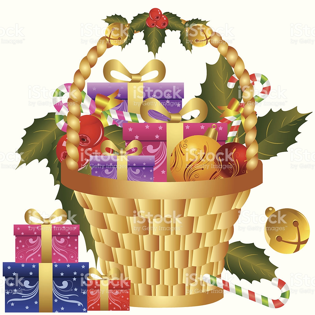 Clip Art Christmas Basket : Christmas gift packages clipart clipground