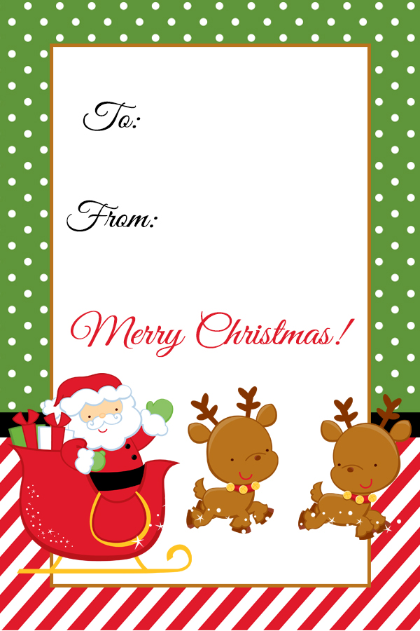 Santa Christmas Gift Tag Printable.