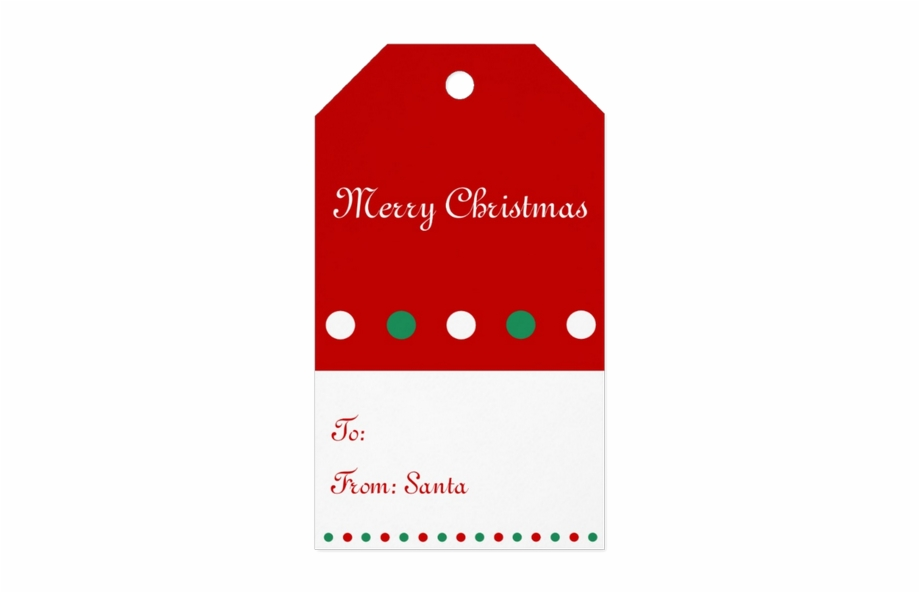 Red And White Personalized Christmas Gift Tags.
