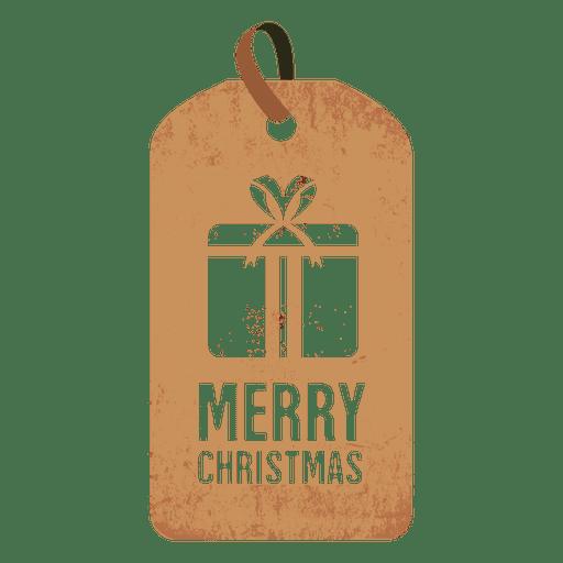 Gift box christmas tag.