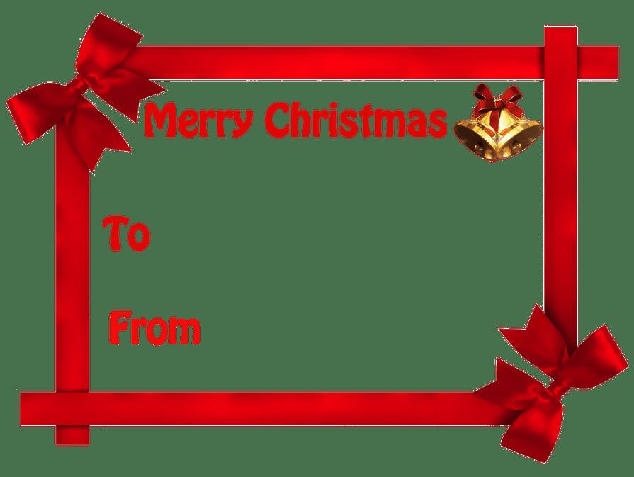 Christmas Gift Tag no background.