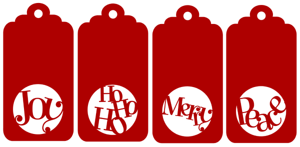 Free Silhouette cut file for four Christmas gift tags plus a.