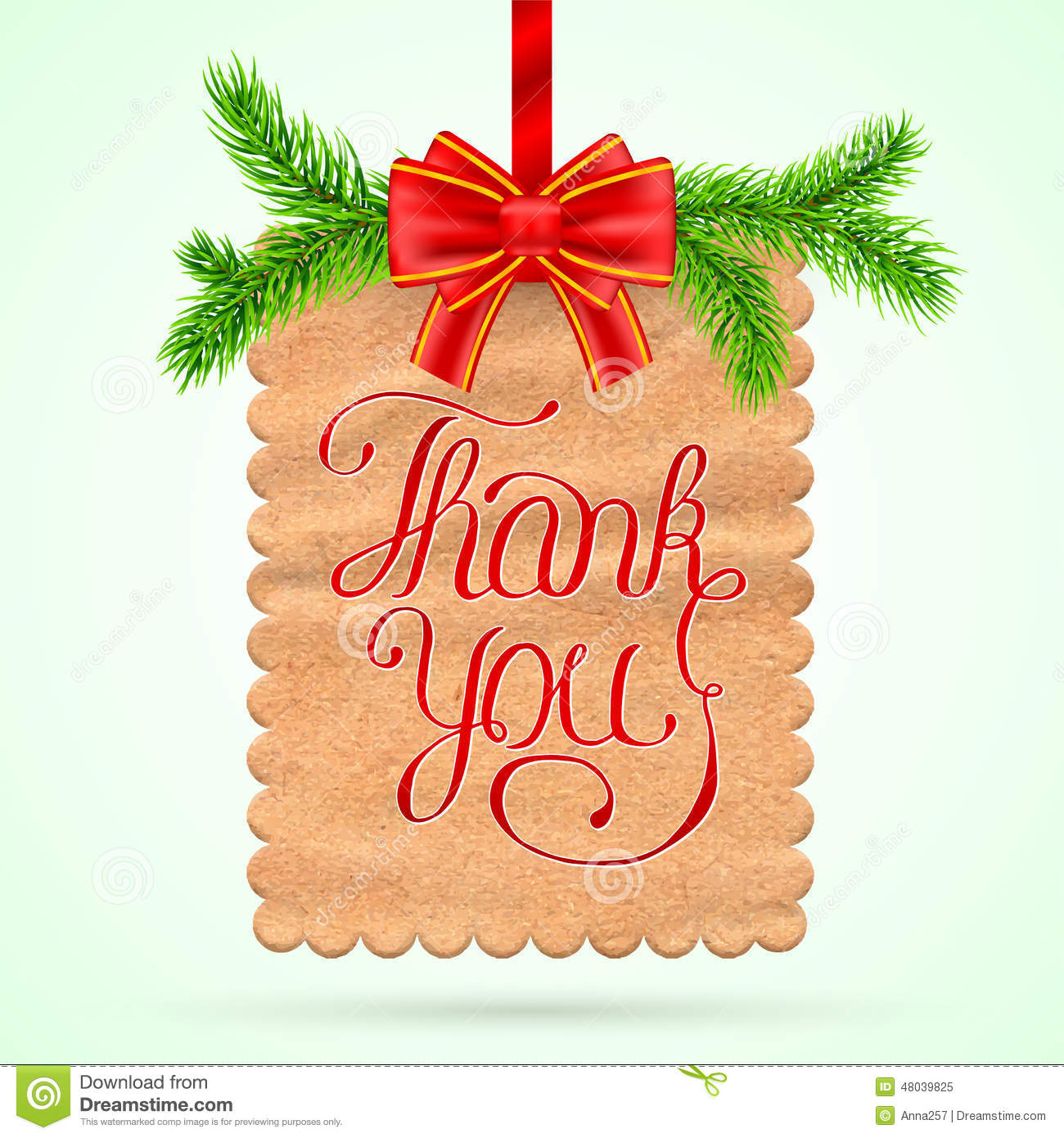 Christmas Thank you card stock vector. Illustration of festive.
