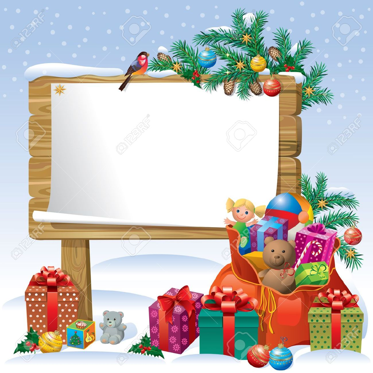 Christmas Toys Border : Christmas presents clipart bord clipground
