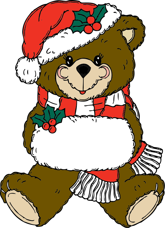 Cute Christmas Present Clipart.