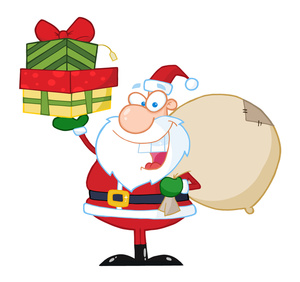 Open present toy clipart.