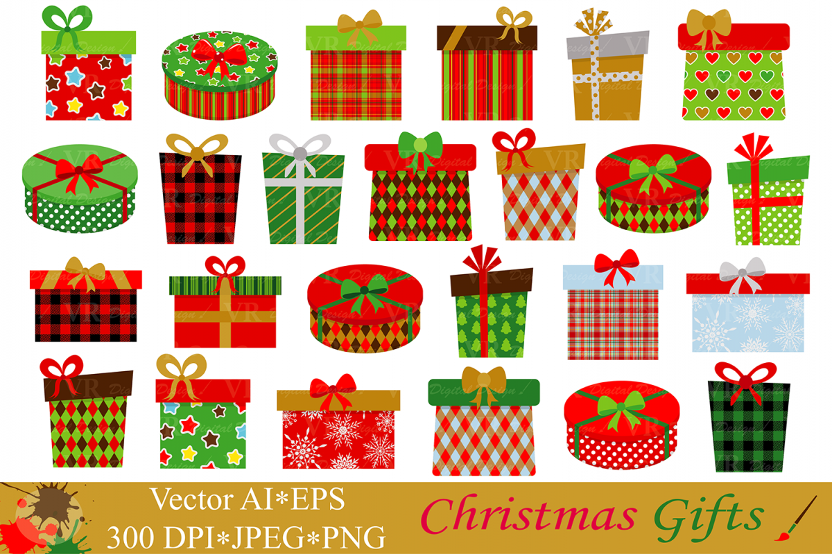 Christmas Gifts Presents Clipart.