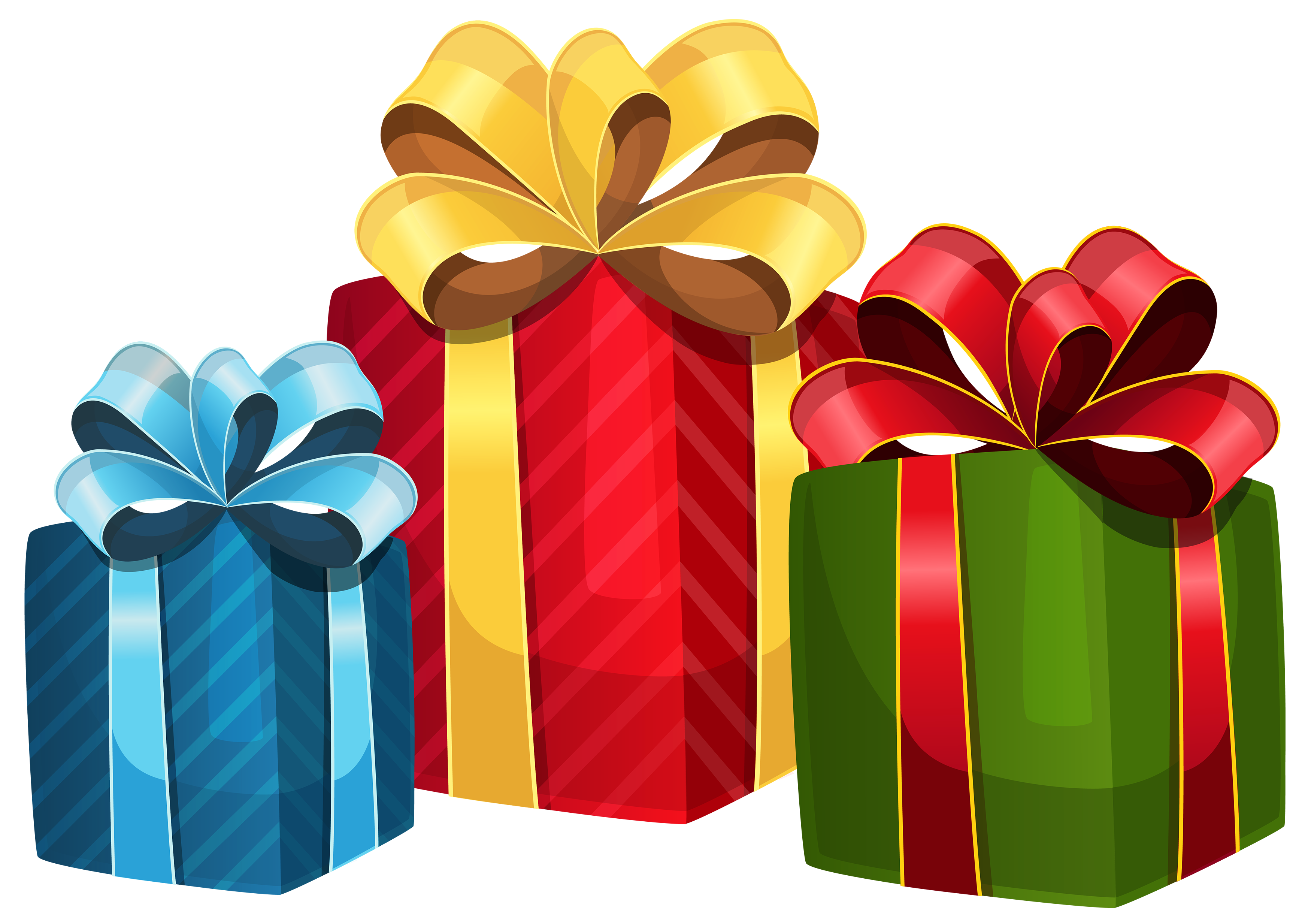 Colorful Gift Boxes PNG Clipart.