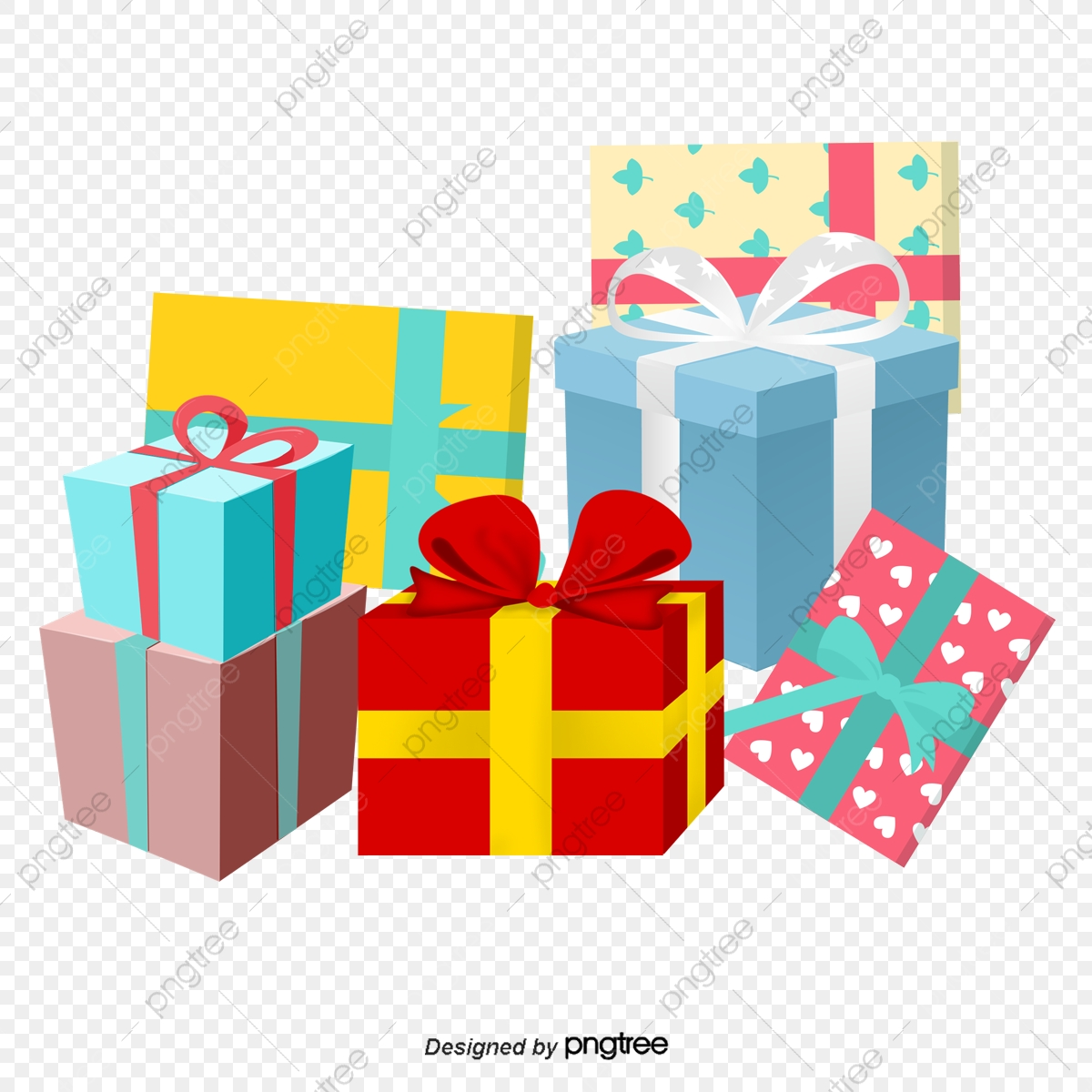 Gift Heap, Gift Clipart, Christmas Gifts, Gift Boxes PNG Transparent.
