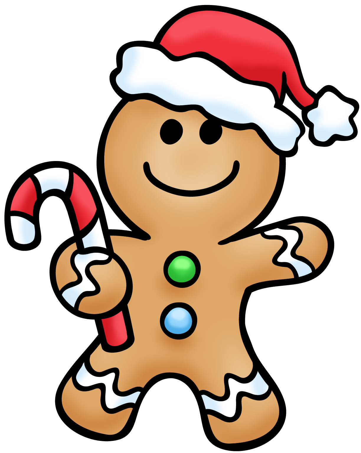 Gingerbread man clip art images illustrations photos.