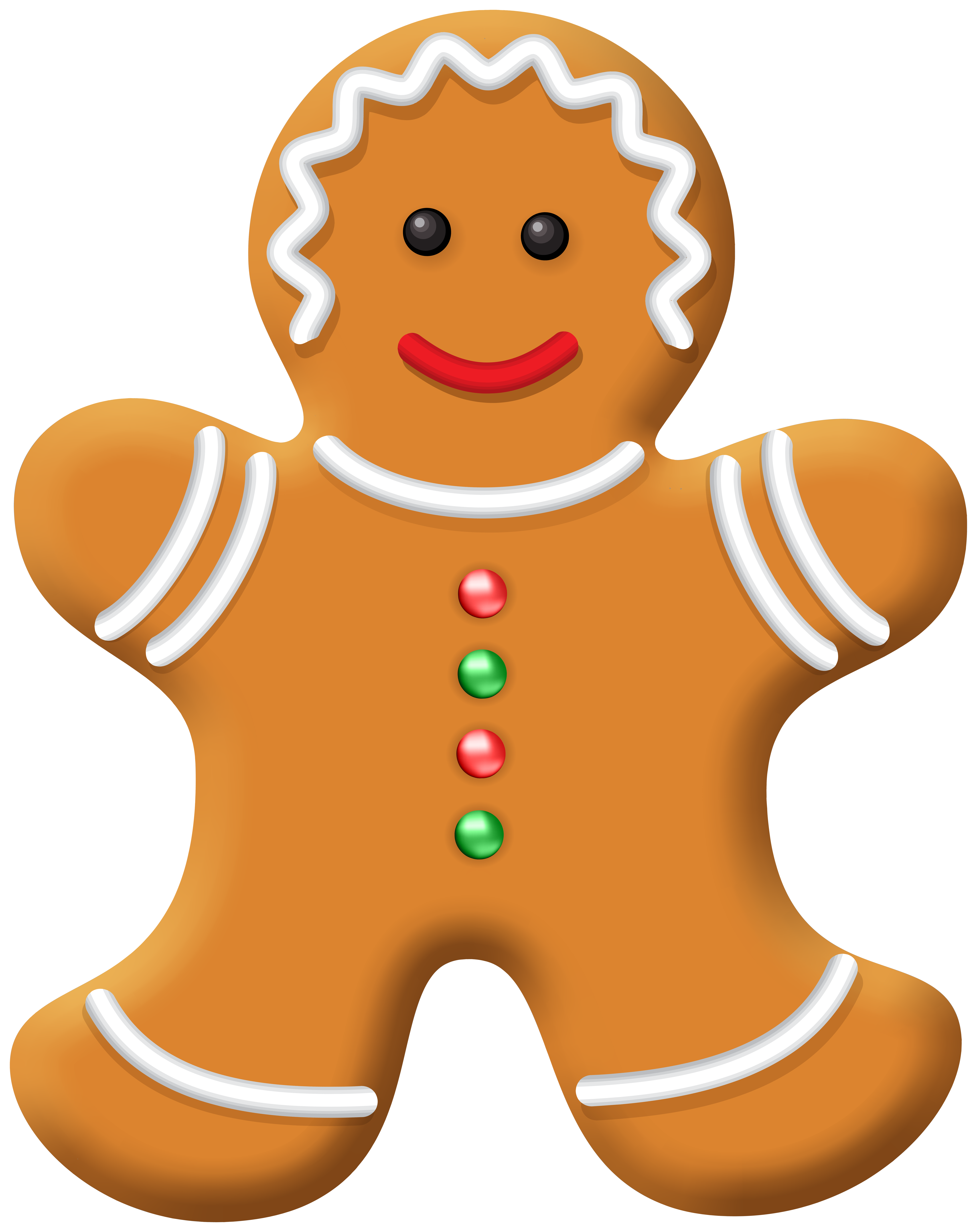 Christmas Gingerbread Girl PNG Clip Art.