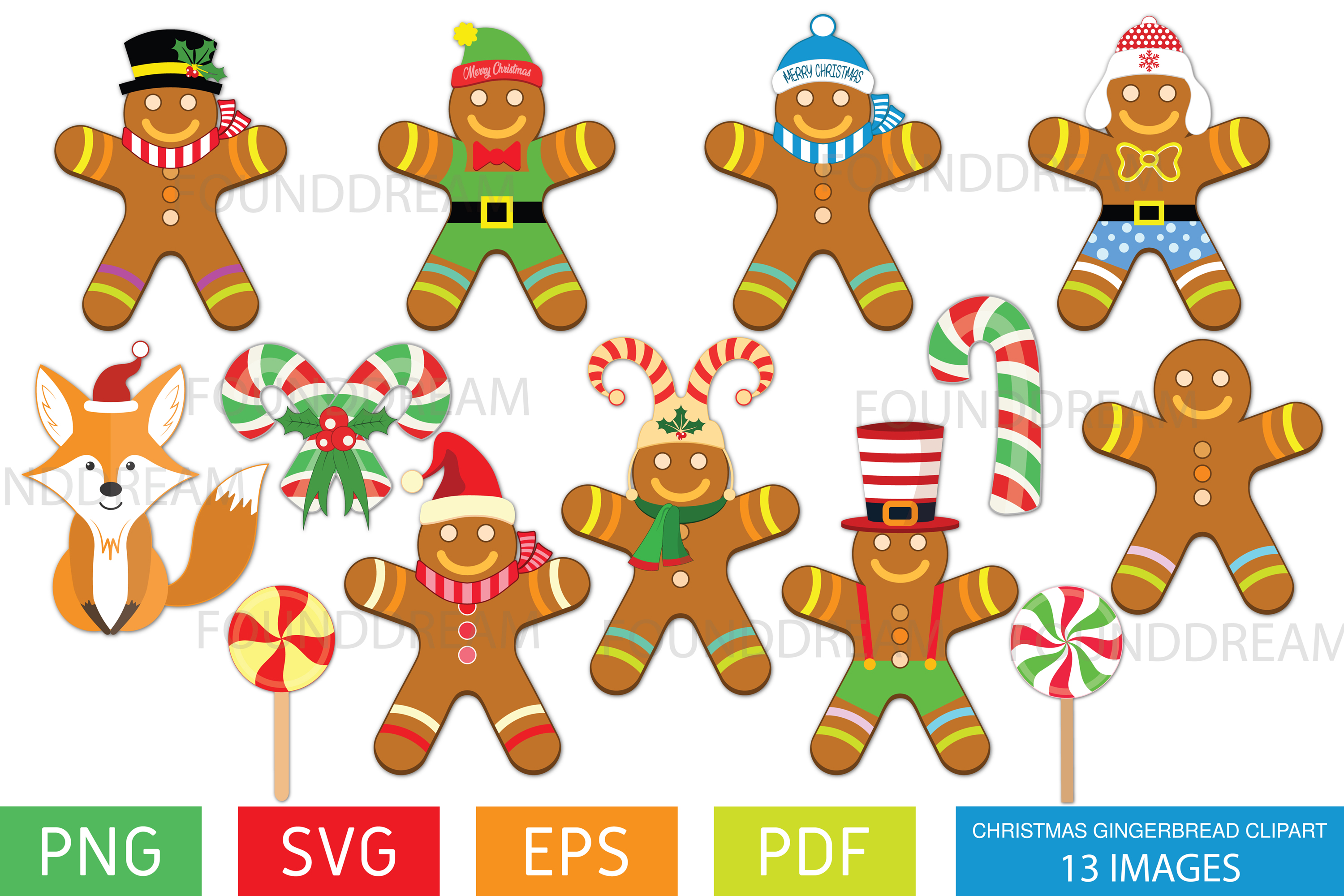 Christmas Gingerbread Clip art.