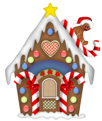 Image result for clipart of gingerbread houses.