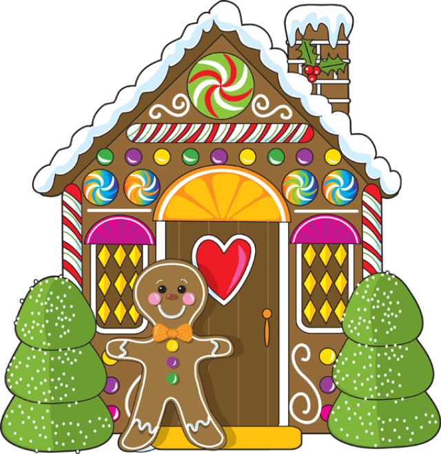 3448 Gingerbread free clipart.