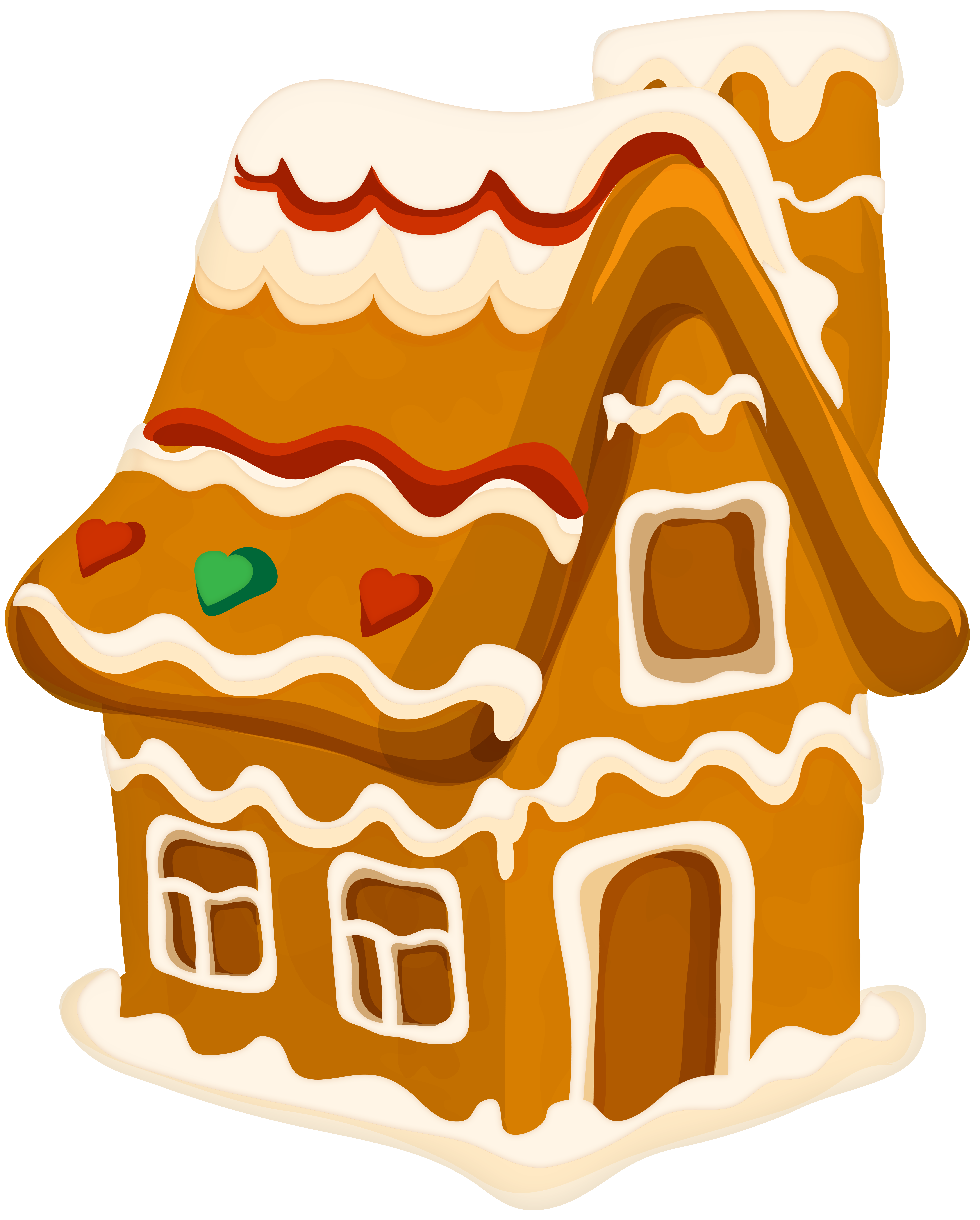 Christmas Gingerbread House PNG Clip Art.