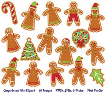 Gingerbread Cookie Clipart, Gingerbread Man Clip Art, Christmas Gingerbread.