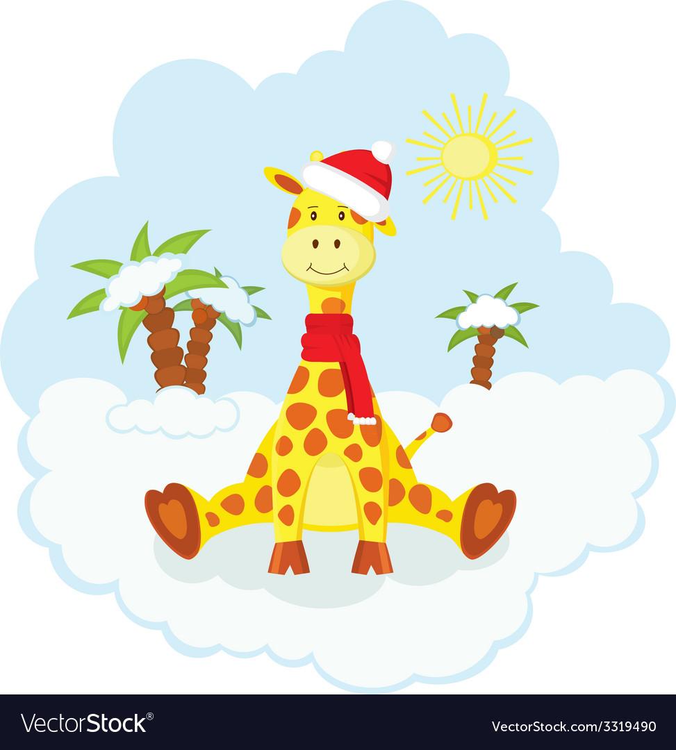 Christmas kid giraffe.