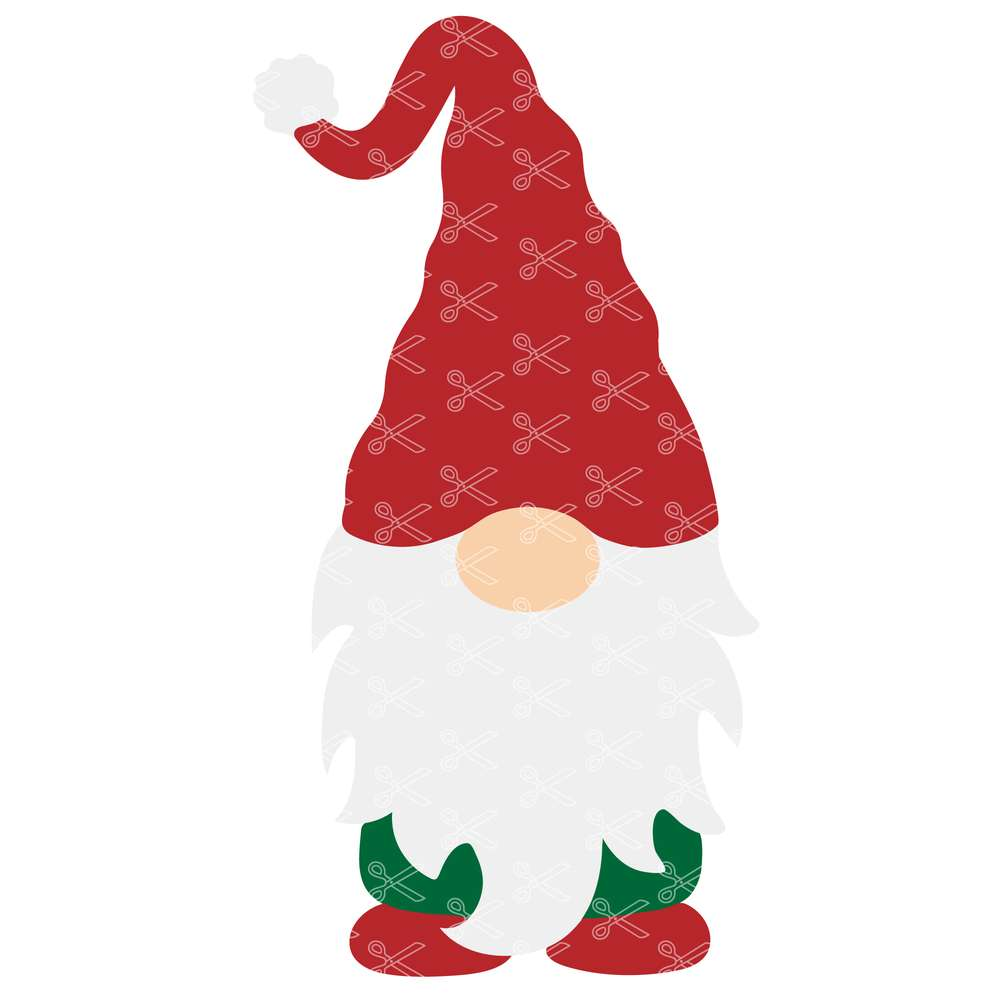 Christmas Gnome SVG DXF PNG Cut Files.