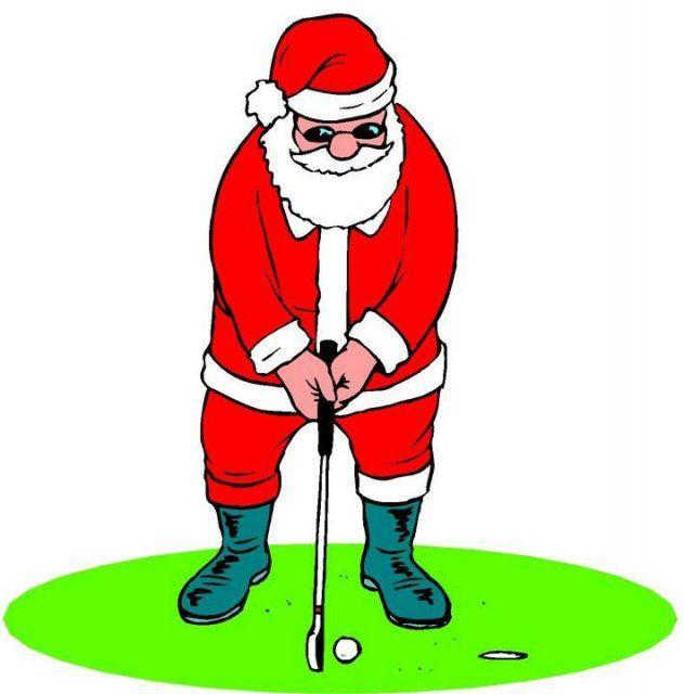 Christmas Golf Clipart.