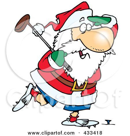 golfing santa.