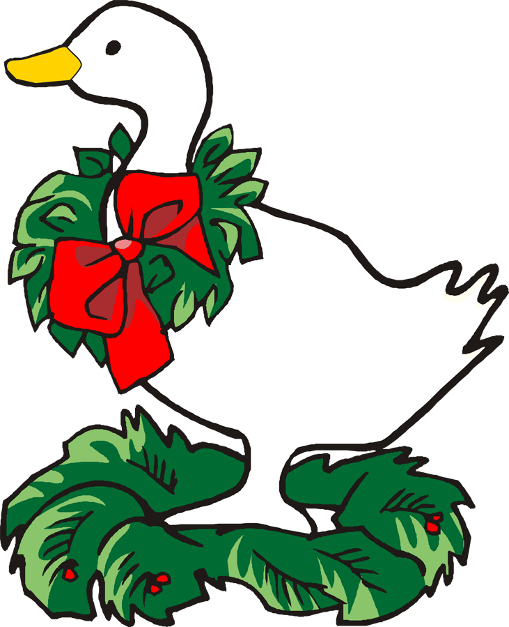 Christmas goose clipart.