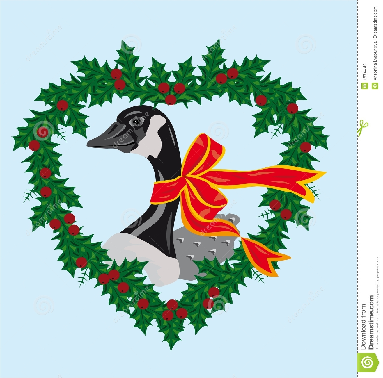 Christmas Goose Stock Illustrations.