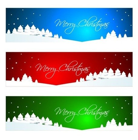 Christmas Banner Clip Art, Vector Christmas Banner.