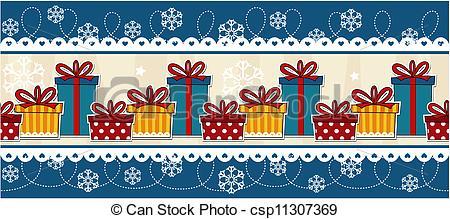 Banner Christmas Gift Boxes.