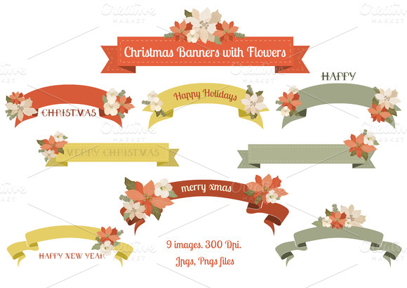 Christmas Graphic Banners Clipart (59+).