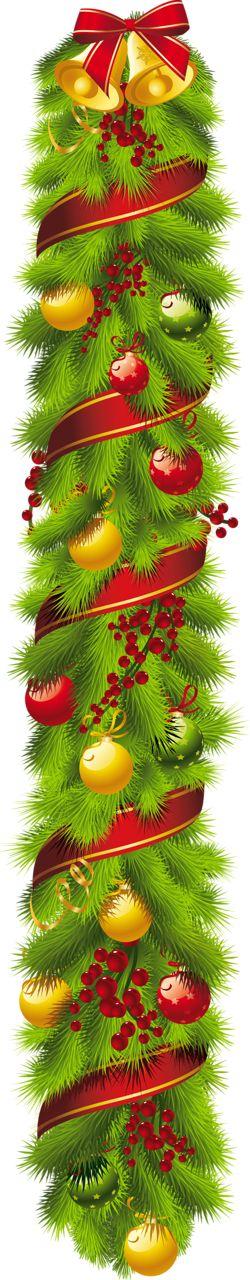 Christmas Ornament Garland Border Clipart