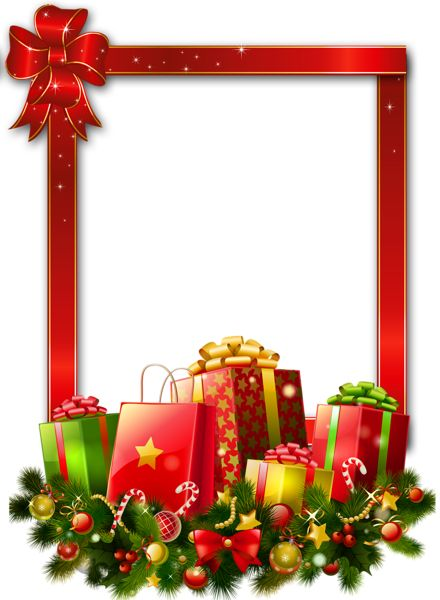 Christmas present border