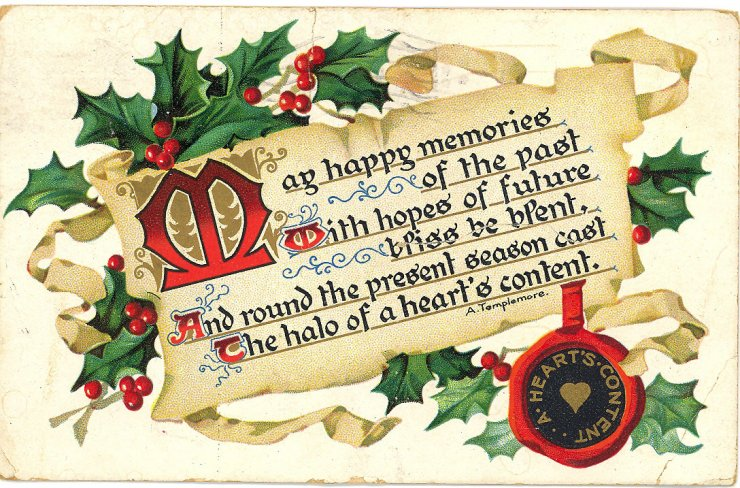 Christmas greetings messages clipart.