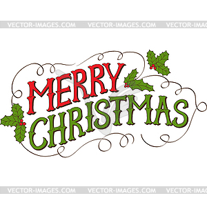 Christmas greeting clipart free.