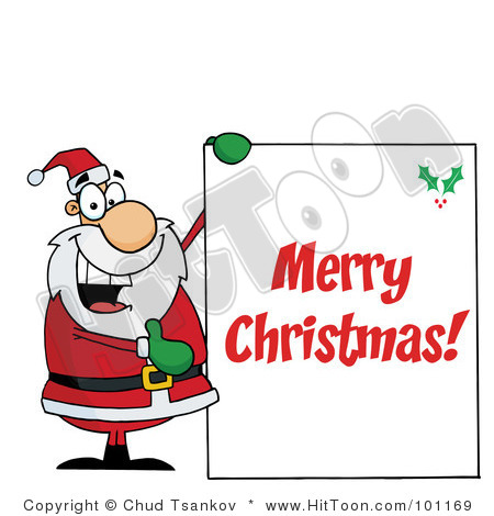 Merry christmas greetings clipart.