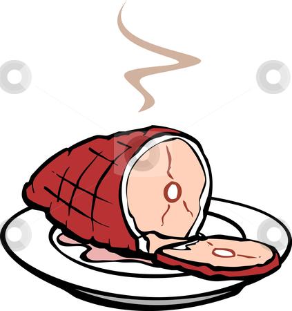 Christmas Ham Feast Clipart.