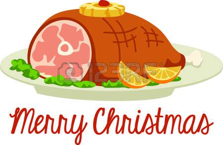 Christmas Ham Clipart.